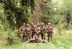 Grenadiers op oefening 1988
