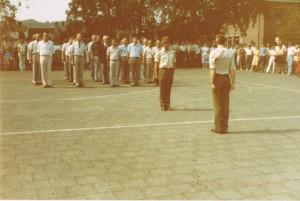 Sgt1 Heerink en Kap Schapendonk excercitie ouderdag OST Cie 1983 (Small)